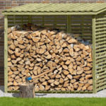 Kaminholzregal, Holzunterstand, Kaminholzunterstand, Brennholzregal, Holzstapelhilfe